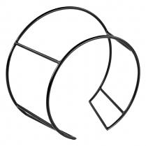 """Dalebrook Black Circular Buffet Stand 17""""L x 8.75""""W x 14.75"""""""