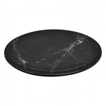 "Dalebrook Black Carrara Marble Platter 11.25"" Dia x 1/2""H"