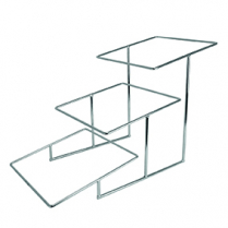 Dalebrook Chrome Plated 3 Tier Angled Dover Stand