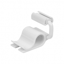 "Dalebrook White Adj Card Holder/Ticket Clamp 0.75"" (10/Pack)"