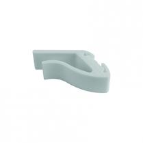 Dalebrook White Fixed Shelf Clamp 2