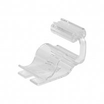 "Dalebrook Clear Adjustable Card Holder/Clamp 0.75"" (10/Pack)"