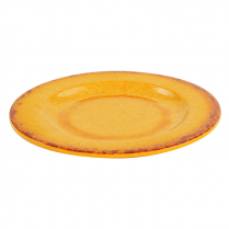 "Dalebrook Orange Casablanca Plate 9"" Dia x 3/4""H"