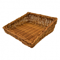 "Dalebrook Angled Poly Wicker Basket 13.25""L x 13""W x 4.25""H"