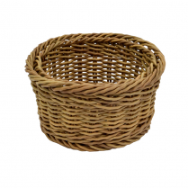 "Dalebrook Poly Wicker Round Willow Basket Dia 7""L x 3.75""H"