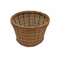 "Dalebrook Poly Wicker Willow Barrel Bowl 12.75""L x 8""H"