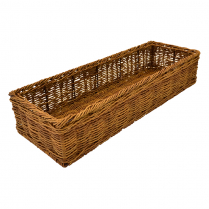 "Dalebrook Poly Wicker Basket 21.75"" x 7.5"" x 4.25""H"