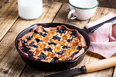 Freshly baked Saskatoon Berry Pie