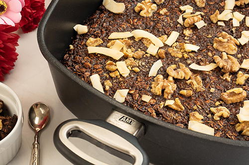 Baked Oatmeal – a decadent mix of Chocolate and Coconut