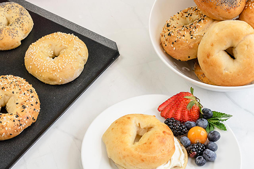 Two-Ingredient Bagels, with sesame seeds or however you want them