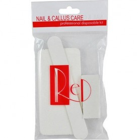 Red Nail Disposable Pedicure Kit Grit 80/100 PK200