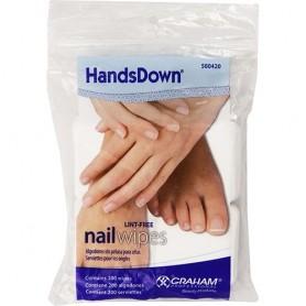 "Handsdown Nail Wipes Lint Free 2""x2"" White 200/bag  42800"