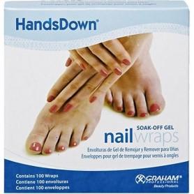 """Handsdown Nail Wrap 1"""" x 4"""", White 100/BX 60906"""