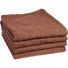 "Dannyco Cotton Towels Deluxe 16""x27"" 1Dozen - Brown #10005"