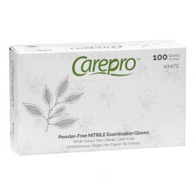 CarePro Powder-Free Nitrile Exam Gloves White 100 pcs X-Small