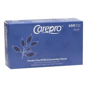 CarePro Powder-Free Nitrile Exam Gloves Blue 100 pcs Medium