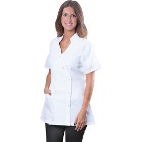 LePro Spa Jacket W/Pocket Small White TECHJAKPKTSMC / 01427