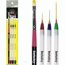 Berkeley 4 Style Nail Art Brush Set AB524