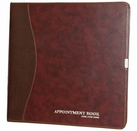 Daniel Stone Burgundy-Brown Leather Appointment Book AB206