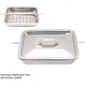 "MBI-951 Instruments SterilizingTray with Cover 10""x8""x2"""