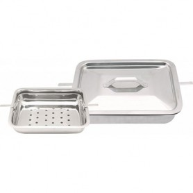 """MBI-952 Instruments Sterilizing Tray with Cover 8""""x6""""x2"""""""