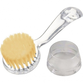 Facial Cleaning Brush, Clear Handle - Natural Bristles 00596