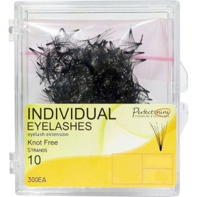 Individual Eyelashes Knot Free A-Curl 0.07x15mm 300ct.