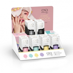 CND Shellac Chic Shock Collection12pcs Display - 92229