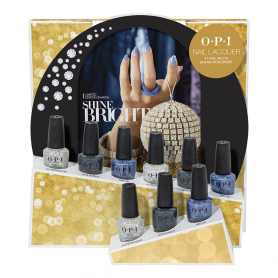 OPI Nail Lacquer Shine Bright 9Pc Chipboard Display HRM24