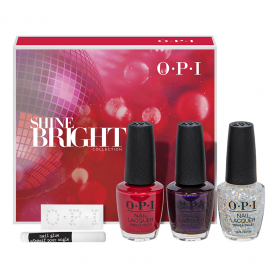 OPI Nail Lacquer Shine Bright Trio Pack With GWP HRM23