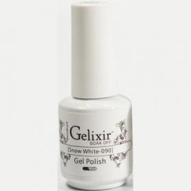 Gelixir Soak Off Gel 0.5 fl oz/15ml - Snow White #090