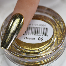 Cre8tion 06-Gold Chrome Nail Art Effect 1g 1101-0664