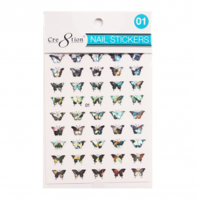 Cre8tion Nail Art Sticker Butterfly 01 1101-1109