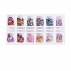 Cre8tion Colorful Nail Art Sequins 12 Styles 1101-1118