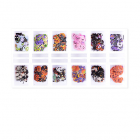 Cre8tion Colorful Nail Art 12 Styles Halloween 1101-1140