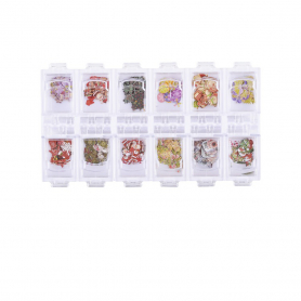 Cre8tion Colorful Nail Art Sequins 12 Styles Christ1101-1216