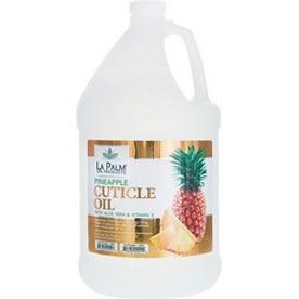 La Palm Organic Cuticle Oil 1 Gallon Clear Pineapple LP061