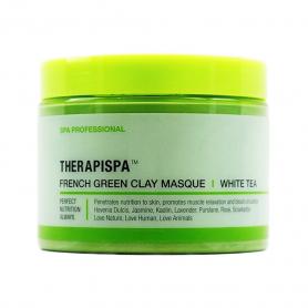 AIIN Therapispa French Green Clay Masque - White Tea 16 oz.