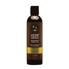 Hemp Seed Massage & Body Oil Nag Champa 8 fl oz/237ml #00088