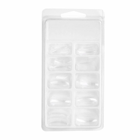 Quick Building Gel Mold Tips Clear 100pcs size 1-10, #41902