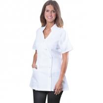 LePro Spa Jacket W/Pocket Medium White TECHJAKPKTMDC / 01428