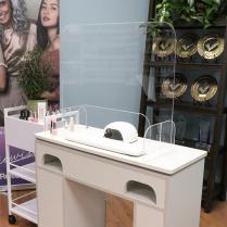 Clear Acrylic Nail Salon Table Shield 7787