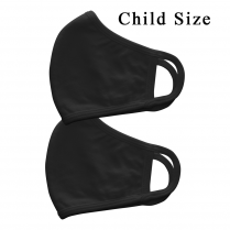 Cre8tion Fabric Face Mask 3 Layer Black 2PK - Child 10407