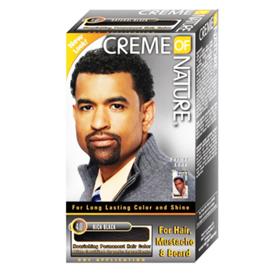 Creme Of Nature Hair,Mustache & Beard Color 4.0 Rich Bk18013