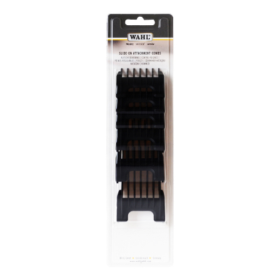 Wahl Slide-On Attachment Combs 6PK Black 53158
