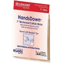 "Graham Handsdown 7"" Birchwood Cuticle Sticks 144pcs #54257"
