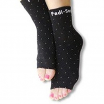 Ultra Collection Pedi-Sox Solid Black PSL-622