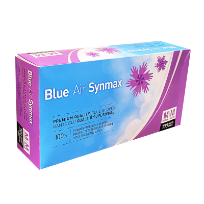 Blue Air Synmax Premium Quality Blue Gloves 100pcs Medium