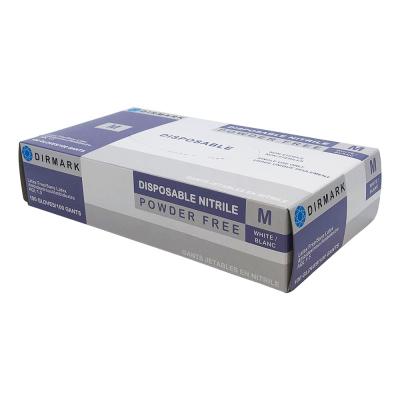Dirmark Disposable Nitrile Gloves White 100Pcs Medium