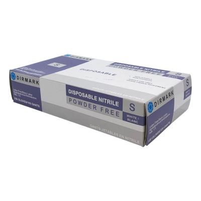 Dirmark Disposable Nitrile Gloves White 100Pcs Small